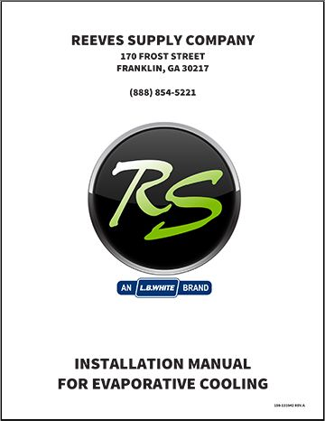 Reeves Supply Evaporative Cooling Installation Manual