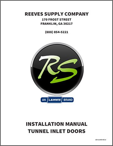 Reeves Supply Tunnel Door Installation Manual